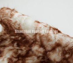 Colorido Jacquard Plush tecido peles 100 Faux acrílico tecido de peles com pêlo