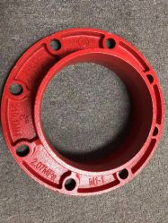 화재 싸움 무쇠 플랜지 접합기 홈이 있는 관 이음쇠