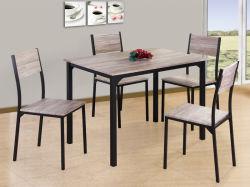 Uni-Homes 5 PC de jeu de table à manger moderne en bois Salle à manger ensemble châssis métallique fixé pour le chinois de meubles de salle à manger Table et chaise en bois