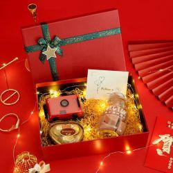 Contenitore di regalo Handmade impaccante di lusso personalizzato di natale della scatola di cartone del regalo di festa di Whosale