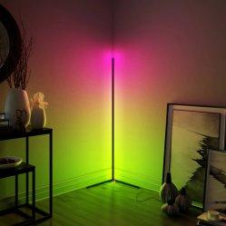 装飾的なコーナーLEDの三脚の床ランプ(WH-FL-01)を立てる現代金属のスタジオ
