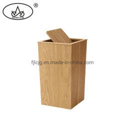 [هيغقوليتي] مستطيلة صفصاف خشبيّة نفاية علبة مع غطاء