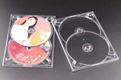 제조자 Weisheng 7mm 두 배 2-DVD 쟁반 PS 물자 패킹 DVD CD Digi 쟁반 저장 Digitray