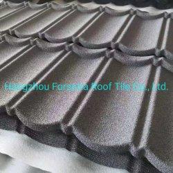 Coperture materiali per costruzioni materiale immobiliare materiale edilizio 130g -150g al-zinco galvanoplaccatura Rivestimento in metallo per tetti con rivestimento in pietra Plus