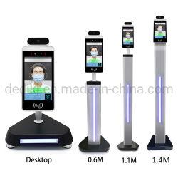 درجة حرارة الجسم جهاز قياس درجة حرارة الجسم بالماسح الضوئي بشاشة LCD 8' درجة حرارة الأشعة تحت الحمراء المستشعرات أمان كاميرات الإنذار
