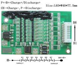 Lws-8S10A-047-L65*W40*T7.5mm RoHS 8s 10A para el paquete de baterías LiFePO4 8s PCM PCB 10A
