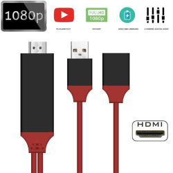 USB 2.0 1080 HDMI телевизора HDTV нейтрализатора адаптер для iPhone Huawei