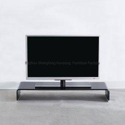 حامل تلفزيون زجاجي ساخن منثني مع الكمبيوتر قاعدة بطاقة التمديد غرفة المعيشة