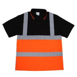 直接製造業者の安全反射Workwearメンズ作業ワイシャツの熱伝達のロゴ