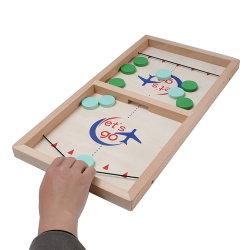Het binnen Draagbare Spel van de Raad van het Hockey van het Stuk speelgoed van de Katapult van de Desktop van de Lijst Interactieve Houten