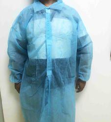 Vert Bleu Blanc Non-Woven de protection jetables blouse de laboratoire de tissu non tissé de vêtements de travail
