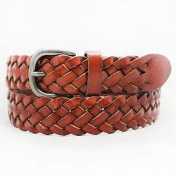 Belle ceinture tressée en cuir véritable brun tan / / Le Cognac pour les hommes de la courroie