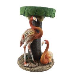 Llegan nuevos tamaño grande Polyresin Flamingo y Cocotero escultura, artesanía de resina personalizado para la decoración del hogar