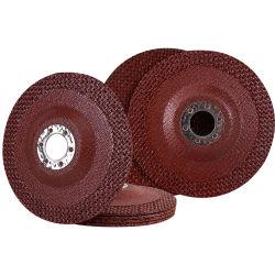 T29 abrasivos de 4,5 pulgadas de hoja de fibra de vidrio Whee Pad de plato de discos de la tapa de hierro inoxidable