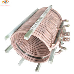 6mm d'épaisseur de fréquence intermédiaire four à induction bobine de cuivre pour la fusion