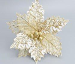 22cm maglia d'oro maglia imitazione Fiore di Natale