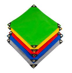 550 GSM tecido lona de PVC de cor verde