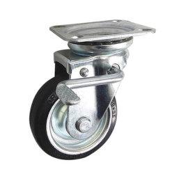 """Nouveau design Workbench/chariot/Medical Panier anti-statique en caoutchouc 5.2""""roues de Roulette pivotante avec frein de blocage total"""
