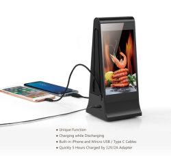 충전소 7 인치 LCD 접촉 스크린 WiFi 테이블 인조 인간 광고 선수를 광고하는 Fyd-868 새로운 혁신적인 대중음식점