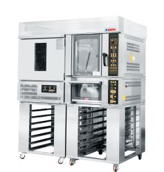 Professionele Bakkerij Gecombineerde die Ovens met Vertrager Proofer en de Oven van het Rek en van het Dek in de Opslag wordt gebruikt