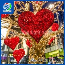 L'éclairage LED Coeur de la conception des décorations de Noël