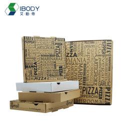 Proveedor de Venta caliente caja caliente tablero blanco ondulado caja de pizza