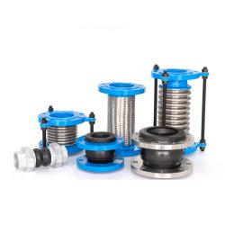 Alambre de acero inoxidable de metal flexible trenzado de dilatación de la brida de corrugado accesorios de tubería de metal corrugado de dilatación