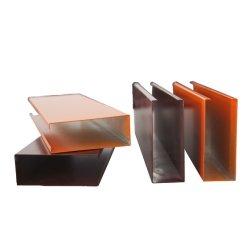 Soffitto di alluminio del deflettore di profilo di figura di U per il soffitto interno ed esterno della decorazione della sospensione