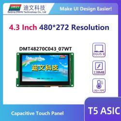 480 × 272 解像度 UART 搭載 Dwin 4.3 インチ TFT LCD モジュール シリアルタッチディスプレイ