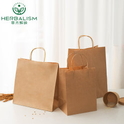 Extra dikkere, sterkere bruine Kraftpapier tas voor verpakking/voeding/cadeau/shoppen