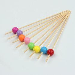 Farben-Perle handgemachte Dekoration-Stock-in der Bambuscocktail-Auswahl der Partei-100PCS/Pack