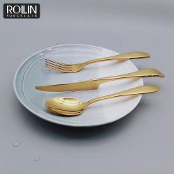 Couteau de Table d'or de haute qualité et de la Table Table cuillère pour le restaurant de la fourche