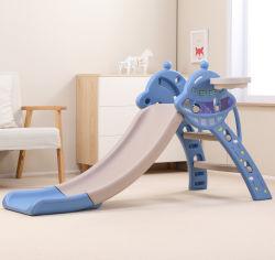 Peuter klimmen Slide Toys Kids Soft Play Equipment kinderen binnenshuis Speeltuin Kids Playhouse Plastic Slide met Basketbal hoep
