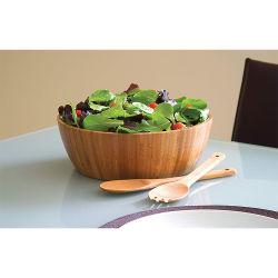 Круглый стакан искусства ручной работы природных вырезанные из бамбука в ремесленных мастерских для фруктов и салат