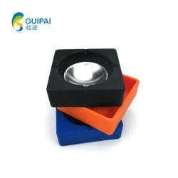 Cinzeiro de bolso de silicone com parte de Aço Inoxidável