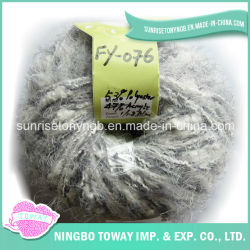 Filato fantasia a buon mercato di lavoro a maglia del bambino di Boucle acrilico grigio del poliestere (FY-076)
