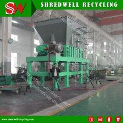 Промышленные двойной вал металлолома Бумагорезательная машина для переработки отходов Car/металлический барабан