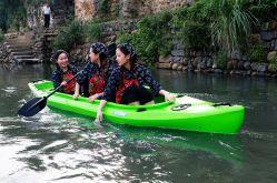 2+1 sièges PEBDL en plastique de la famille de la pêche récréative de tournées Kayak