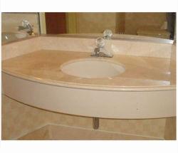 Crema Marfil blanco/amarillo/beige/marrón/negro el cuarto de baño Vanitytop losas de piedra de mármol para el Hotel/cocina/cuarto de baño