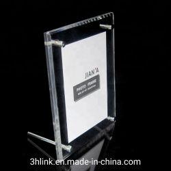 明確なアクリルの磁石の写真フレーム、陳列台、名刺のホールダー