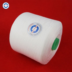 Filato cucirino filato 100pct grezzo semi con acuto del poliestere di bianco 52/2