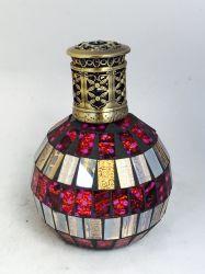 Стеклянной мозаики аромат каталитического лампа диффузор с металлической с вентиляционным отверстием (50290487)