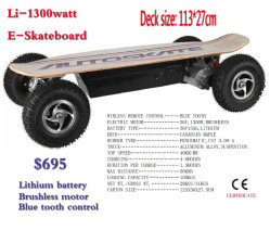 전기 1300watt Brushless Motor Electric Skate Board