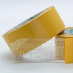 Una buena calidad reforzado de fibra de vidrio de la cruz de doble cara cinta filamento