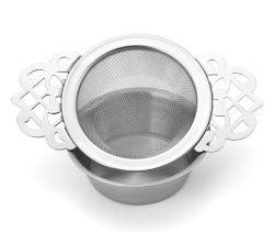 Filets à mailles métalliques de thé avec plateau thé de la crépine du filtre