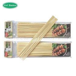 Kebab de bambu descartáveis espeto na churrasqueira