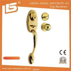 真鍮の高品質の入口の大きいハンドルLock804871pb