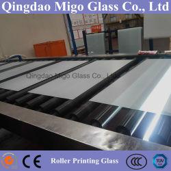Rouleau de meubles en verre d'impression // Table Top de verre en verre