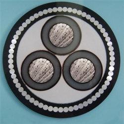 3 Kern 185 Sqmm kupferne Leiter-mittlere Spannungs-gepanzertes XLPE Isolierenergien-Kabel