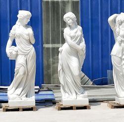 OEM Home/ statue de pierre de jardin dame femme sculpture en marbre blanc